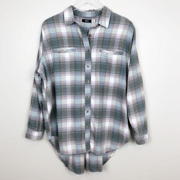 cd16a06f7 Urban Outfitters Tops | Bdg Plaid Flannel Shirt Grunge | Poshmark